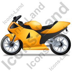 Motorcycle Left Yellow Icon