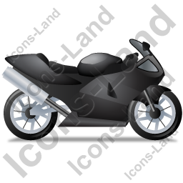 Motorcycle Right Black Icon, PNG/ICO, 256x256