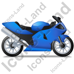 Motorcycle Right Blue Icon