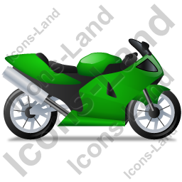 Motorcycle Right Green Icon