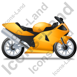 Motorcycle Right Yellow Icon, PNG/ICO, 256x256