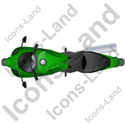 Motorcycle Top Green Icon, PNG/ICO, 256x256