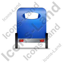 Pedicab Back Blue Icon, PNG/ICO, 256x256