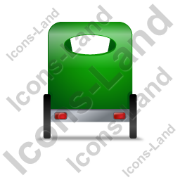 Pedicab Back Green Icon