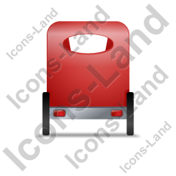 Pedicab Back Red Icon, PNG/ICO, 256x256