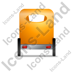 Pedicab Back Yellow Icon, PNG/ICO, 256x256