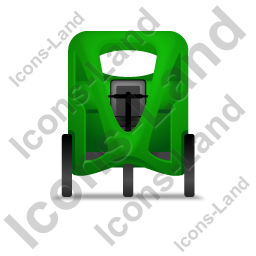 Pedicab Front Green Icon