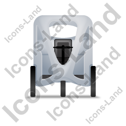 Pedicab Front Grey Icon, PNG/ICO, 256x256