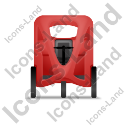 Pedicab Front Red Icon, PNG/ICO, 256x256