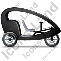 Pedicab Right Black Icon, PNG/ICO, 256x256