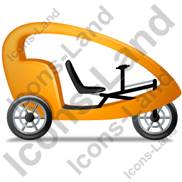 Pedicab Right Yellow Icon, PNG/ICO, 256x256