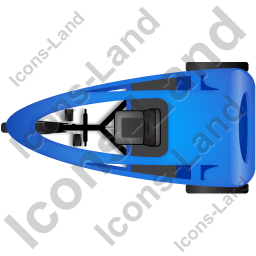 Pedicab Top Blue Icon, PNG/ICO, 256x256