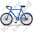 Bicycle Left Blue Icon