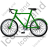 Bicycle Left Green Icon, PNG/ICO, 48x48