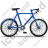 Bicycle Right Blue Icon