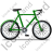 Bicycle Right Green Icon, PNG/ICO, 48x48
