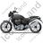 Cruiser Motorcycle Left Black Icon