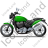 Cruiser Motorcycle Left Green Icon, PNG/ICO, 48x48