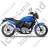 Cruiser Motorcycle Right Blue Icon, PNG/ICO, 48x48
