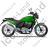 Cruiser Motorcycle Right Green Icon