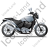 Cruiser Motorcycle Right Grey Icon