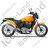 Cruiser Motorcycle Right Yellow Icon, PNG/ICO, 48x48