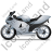 Motorcycle Left Grey Icon, PNG/ICO, 48x48