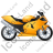 Motorcycle Right Yellow Icon, PNG/ICO, 48x48