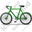 Bicycle Left Green Icon, PNG/ICO, 64x64
