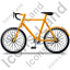 Bicycle Left Yellow Icon
