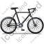 Bicycle Right Black Icon, PNG/ICO, 64x64