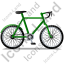 Bicycle Right Green Icon, PNG/ICO, 64x64