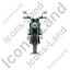 Cruiser Motorcycle Front Green Icon, PNG/ICO, 64x64