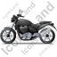 Cruiser Motorcycle Left Black Icon, PNG/ICO, 64x64