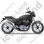 Cruiser Motorcycle Right Black Icon