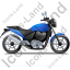 Cruiser Motorcycle Right Blue Icon