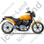 Cruiser Motorcycle Right Yellow Icon, PNG/ICO, 64x64