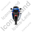 Motorcycle Back Blue Icon, PNG/ICO, 64x64