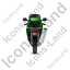 Motorcycle Back Green Icon