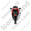 Motorcycle Back Red Icon, PNG/ICO, 64x64