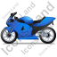 Motorcycle Left Blue Icon