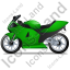 Motorcycle Left Green Icon