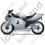 Motorcycle Left Grey Icon, PNG/ICO, 64x64