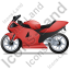 Motorcycle Left Red Icon, PNG/ICO, 64x64
