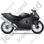 Motorcycle Right Black Icon, PNG/ICO, 64x64