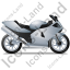 Motorcycle Right Grey Icon