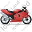 Motorcycle Right Red Icon