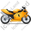 Motorcycle Right Yellow Icon, PNG/ICO, 64x64