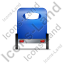 Pedicab Back Blue Icon, PNG/ICO, 64x64