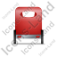 Pedicab Back Red Icon, PNG/ICO, 64x64